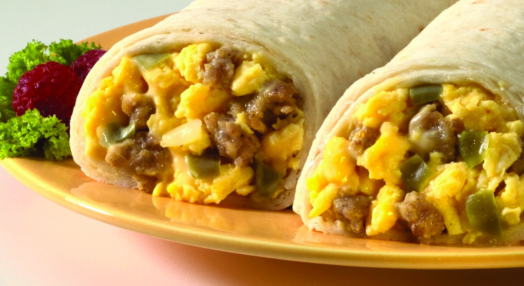 Sausage, Egg, and Cheese Breakfast Burritos